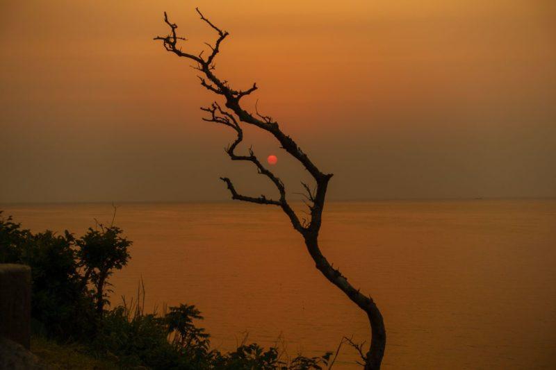 能登半島から見る夕日