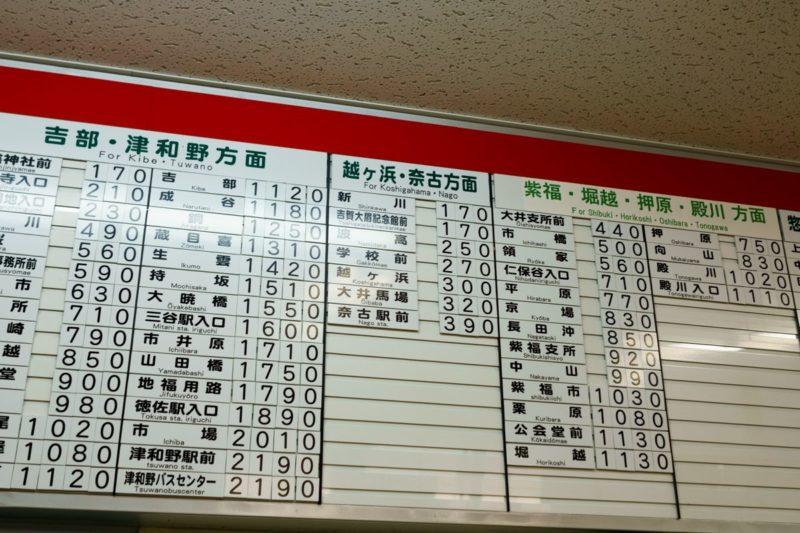 萩亜バスセンターからのアクセス