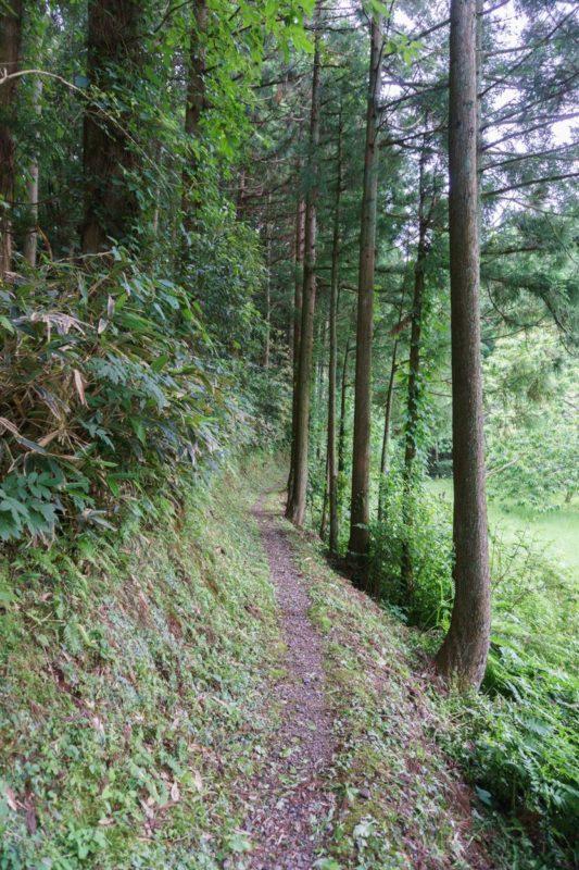 佐々木小次郎の墓への道