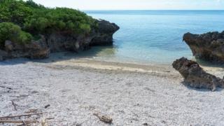 珊瑚の浜波照間島