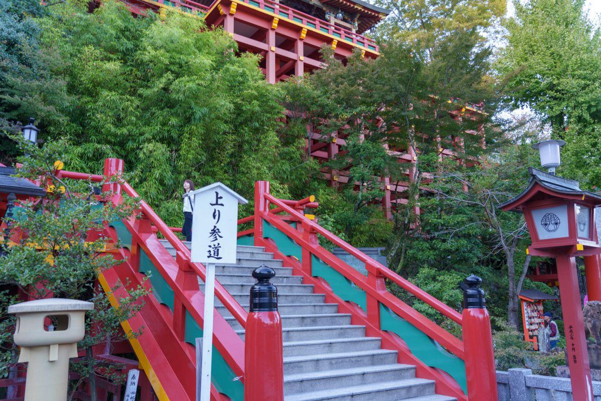 本殿への階段