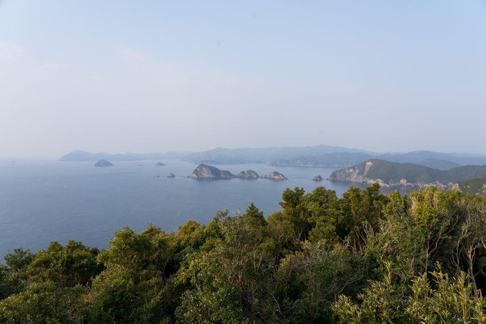 鶴御崎展望ブリッジから見た景色