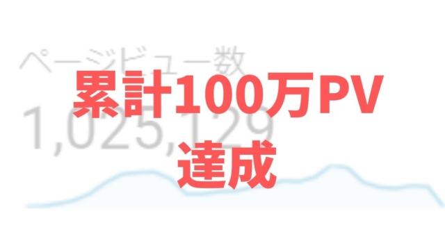 ブログ累計100万PV達成