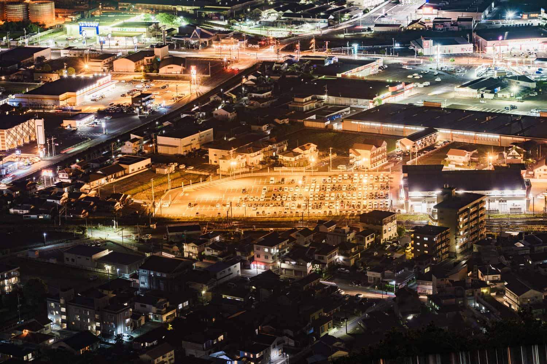 自動車学校 延岡 愛宕山から見た夜景