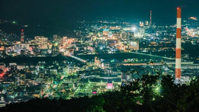 延岡 愛宕山から見た夜景