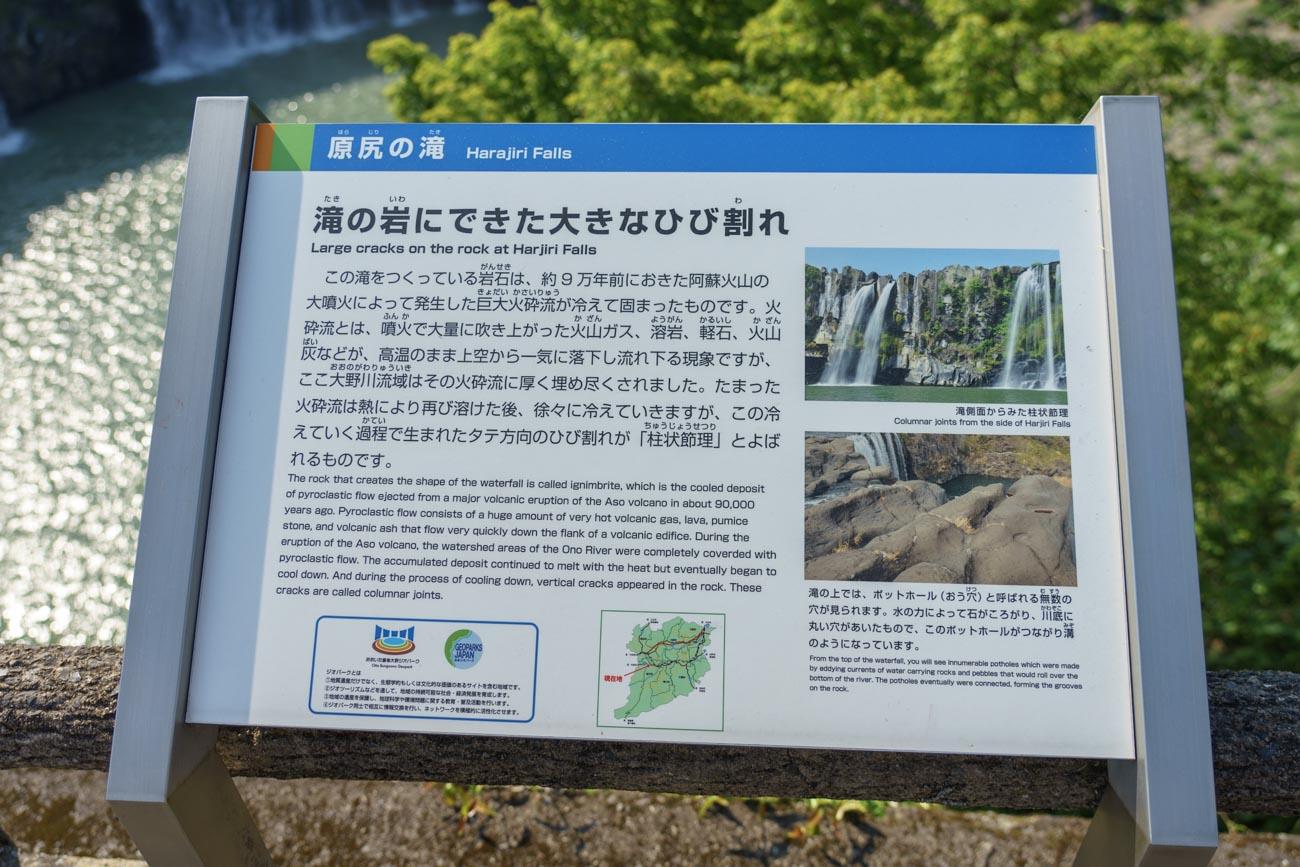 原尻の滝説明文
