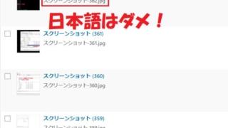 日本語はダメ