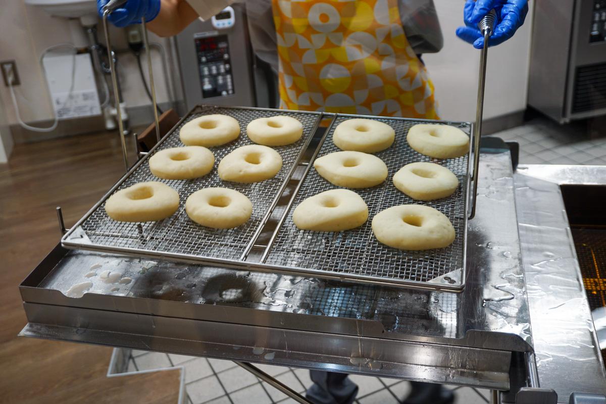 発酵済みのドーナツ