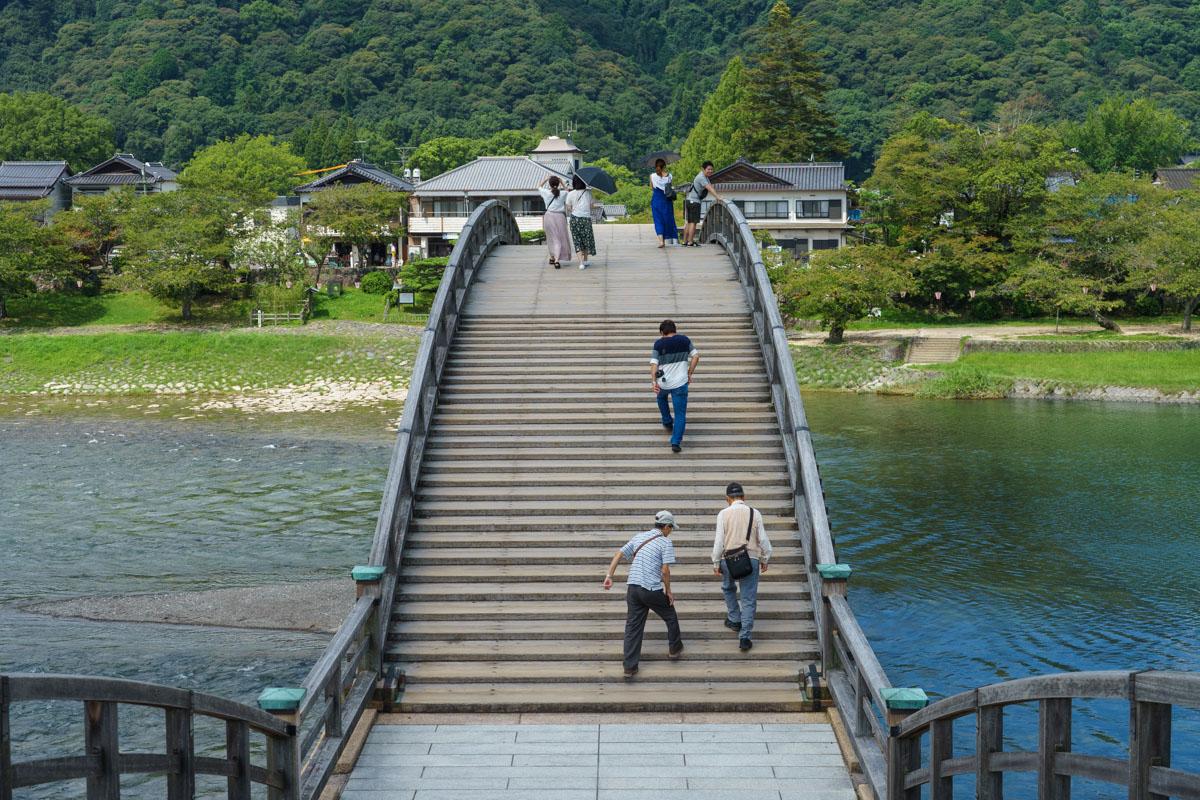 錦帯橋の階段
