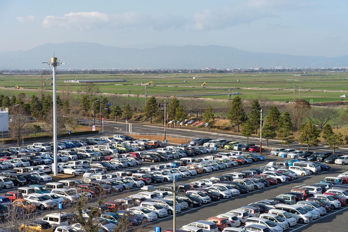 佐賀空港の駐車場