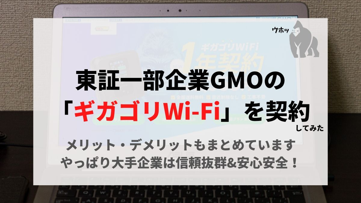 ギガゴリWi-Fiを契約した
